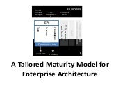 A tailored enterprise architecture maturity model