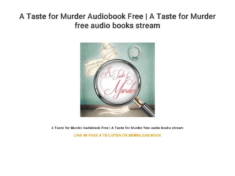 A Taste for Murder Audiobook Free | A Taste for Murder free