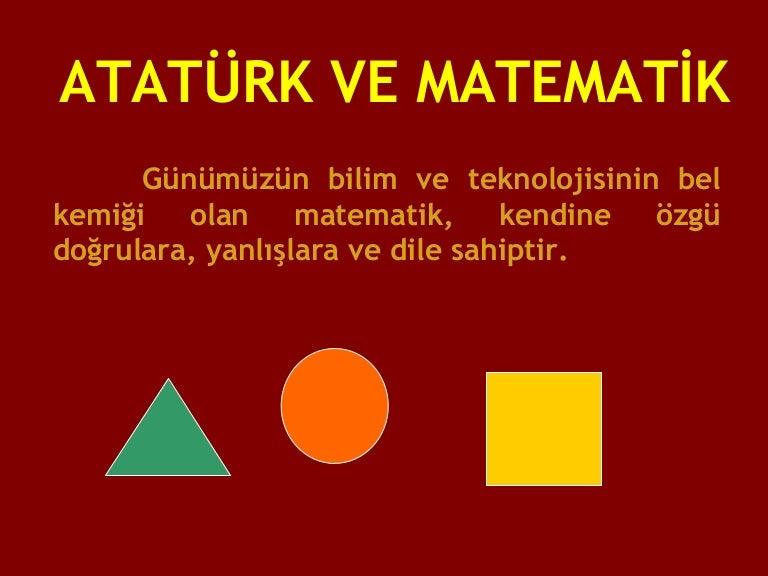 Ataturk Ve Matematik