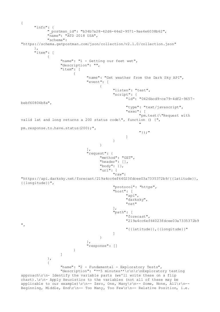Agile Testing Days 2018 - API Fundamentals - postman collection