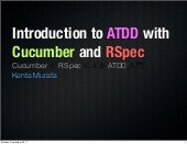 Introduction to ATDD with Cucumber and RSpec