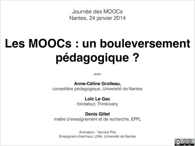 Atelier 1 - Les MOOC, un bouleversement pédagogique - Intro