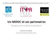 Atelier 4 - Les MOOC et la collaboration public privé - Simon Carolan