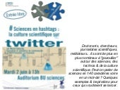 Sciences en hashtags : la culture scientifique sur Twitter
