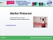 Atelier pinterest festival communication sante 2013
