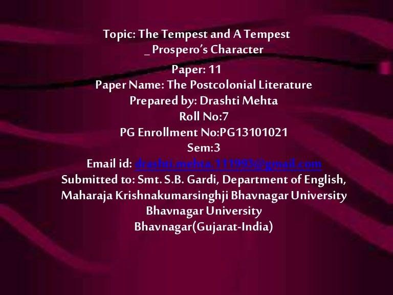 A Tempest The Tempest Prospero