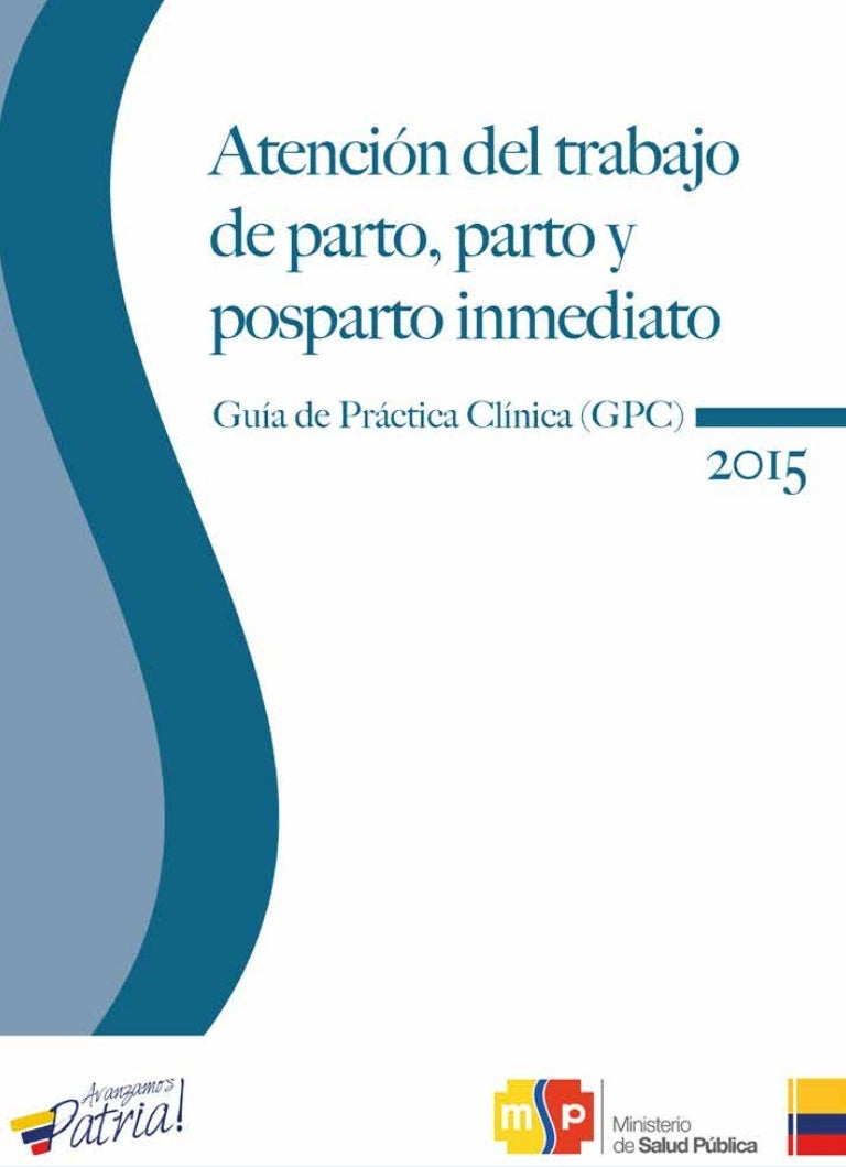Atencion trabajo-de-parto-editogram 2015 . Guía de Práctica Clínica