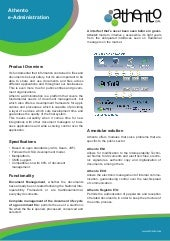 Athento e-Administration Product Sheet