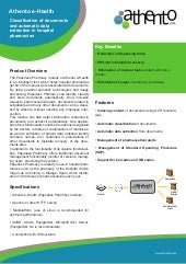 Paperless Pharmacy (Athento e-Health Product Sheet)