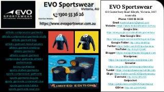 Sportswear World I EVO Sportswear - Contact Us Today! 1300 55 36 26