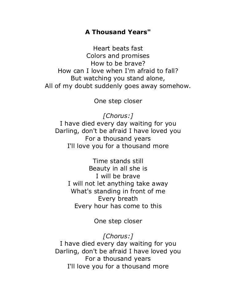 Christina Perri – A Thousand Years Lyrics | Genius Lyrics