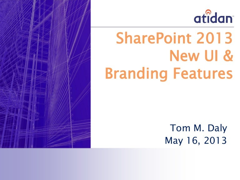 Sharepoint 2013 User Interface And Design Improvements Webinar From