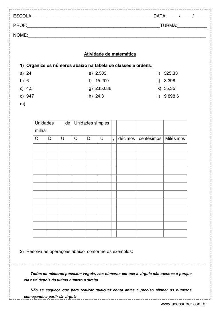 Well-known Atividade de-matematica-numeros-decimais-e-porcentagem-5º-ano DI71
