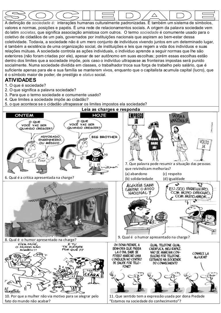 Muito Atividades interpretação interdisciplina sociedade sociologia, filo… CD51