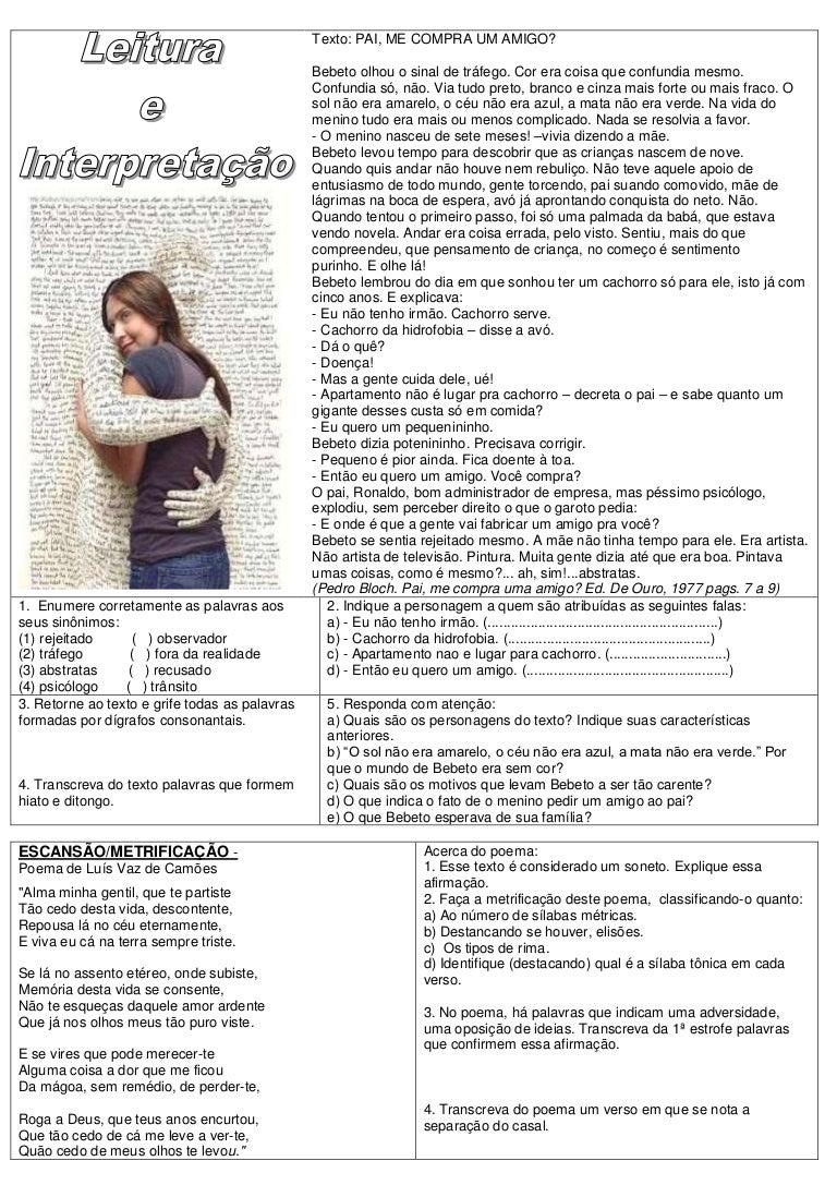 Atividades De Lingua Portuguesa G 2