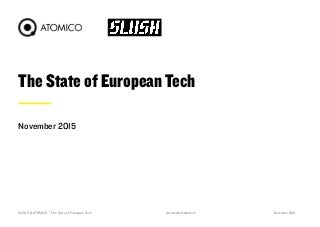 The State of European Tech 2015