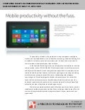 Comparing tablets in common workplace scenarios: Intel Atom processor-based Windows 8 tablet vs. Apple iPad