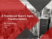 A traditional team's agile transformation