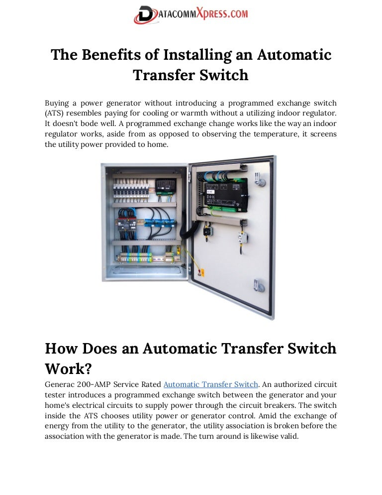 ats automatic transfer switch rh slideshare net New Holland Wiring Diagrams Residential Electrical Service Panel Wiring Diagrams