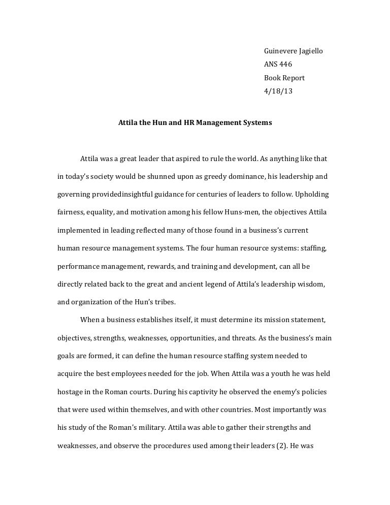 attila the hun essay relation to modern day human resources