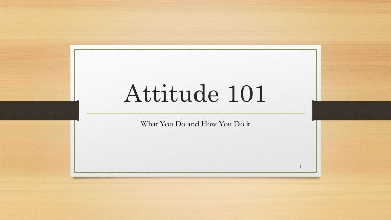 Attitude 101 PDF Free download