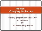 Attitude – changing for the best   vbk
