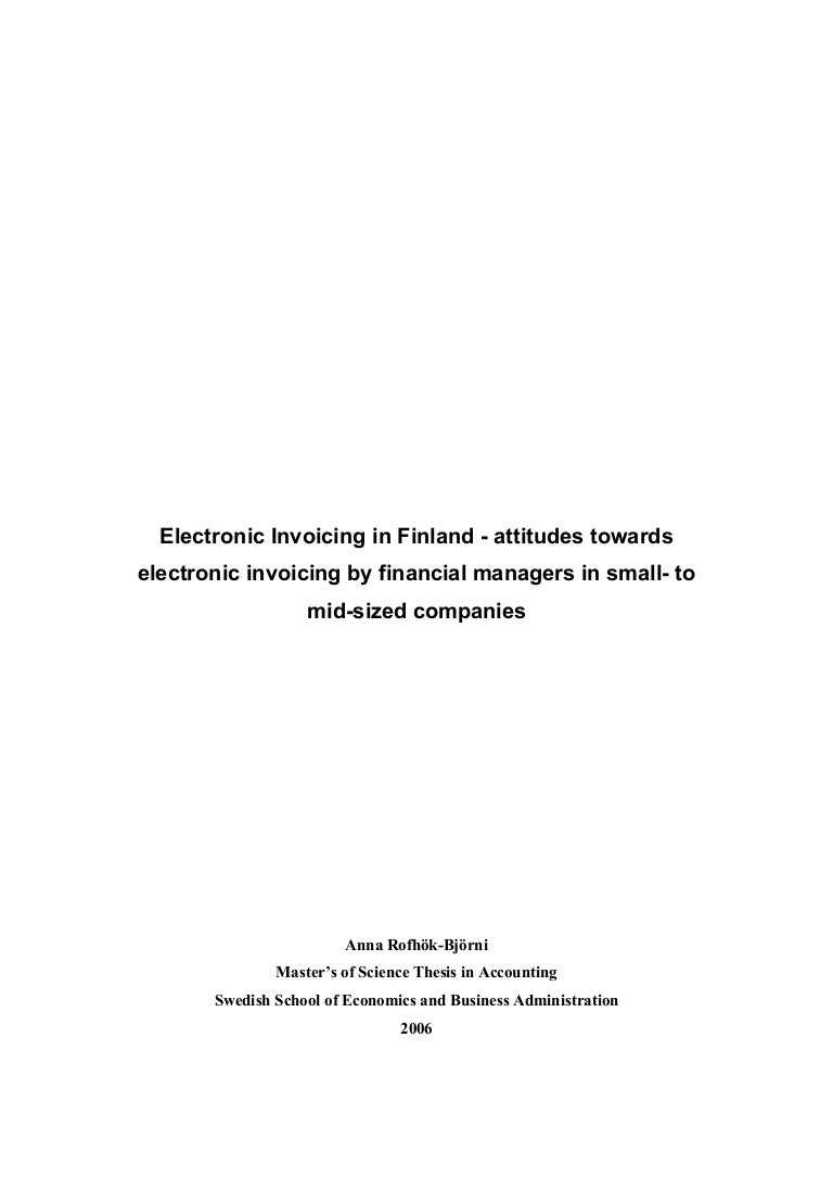 Invoice And Billing Attitudes Towards Electronic Invoicing In Finland Credit Card Invoice Pdf with Mrv Fee Payment Receipt Excel  Personalised Duplicate Invoice Pads Word