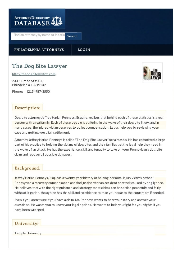 The Dog Bite Lawyer