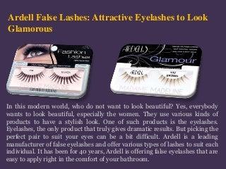 Attractive ardell false eyelashes