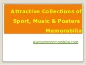 Attractive collections of sport, music & posters  memorabilia  - Awesomememorabilia.com Reviews