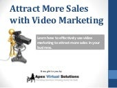 Attract more sales with video marketing