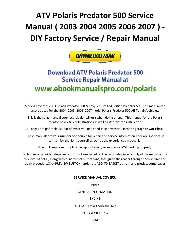 2007 polaris predator 500 wiring diagram 2007 atv polaris predator 500 service manual 2003 2004 2005 2006 2007 u2026 on 2007 polaris predator polaris predator 500 wiring diagram polaris discover