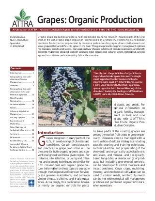 Grapes: Organic Production