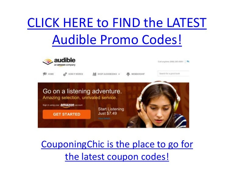 Audible promotion codes