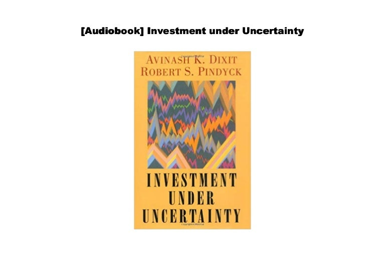 Investment under uncertainty dixit odyssey residential property investment in india