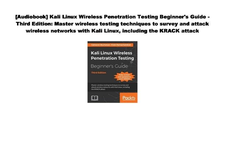[#PDF~] Kali Linux Wireless Penetration Testing Beginner's
