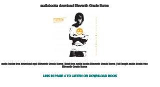 audiobooks download Eleventh Grade Burns
