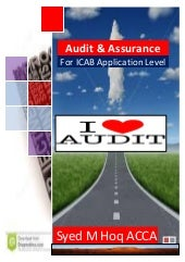 Audit and Assurance Hand Note