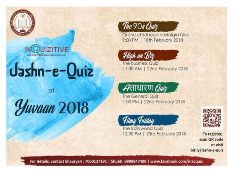 Prelims) Filmy Friday - The Bollywood Quiz by Inquizitive