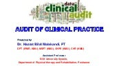Audit of clinical practice