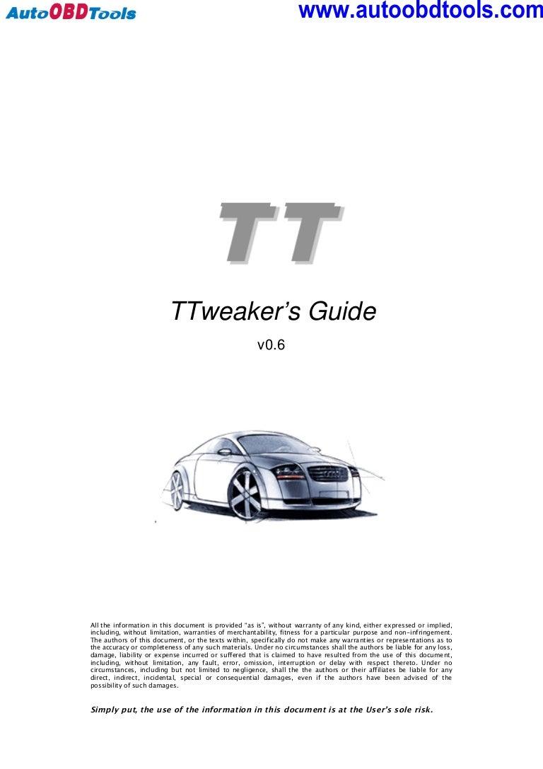 audi tt tweaker user guide manual rh slideshare net Audi TT Manual Transmission Haynes Shop Manual Audi TT