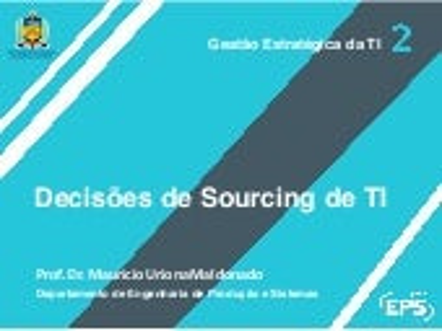 Decisões de Sourcing de TI