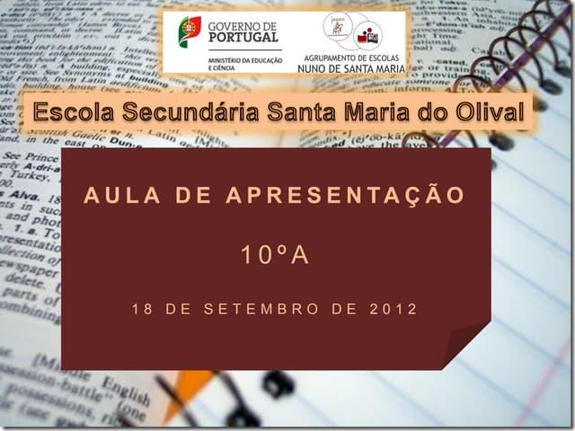 Aula de apresentação considerações gerais e critérios de avaliação em bg 10 a set 2012