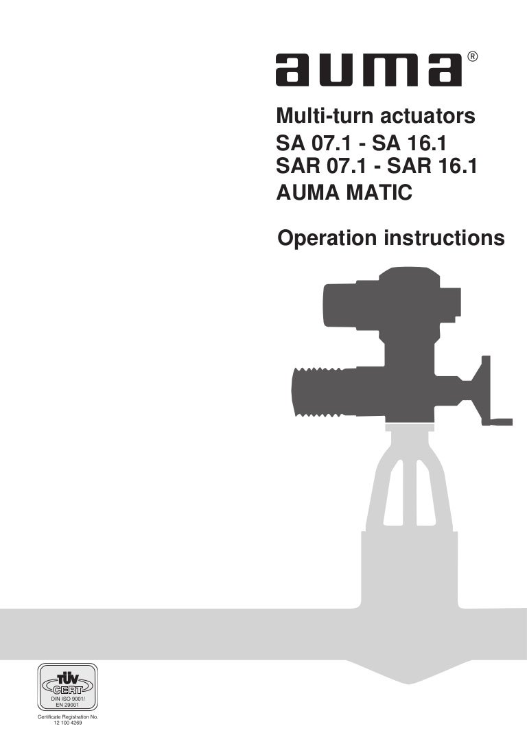 Auma Matic Actuator Wiring Diagram. Auma. Free Wiring Diagrams