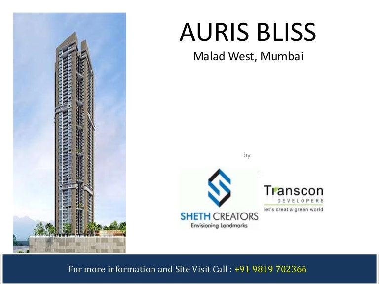 Sheth Auris Bliss Transcon Auris Bliss In Malad West Mumbai