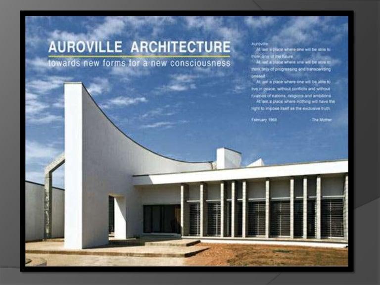 centre for architectural research design chennai. Auroville Architecture