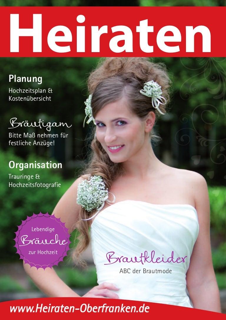 Ausgabe Heiraten in Oberfranken - Magazin 2014