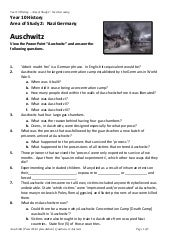 33 The Holocaust Worksheet Answers - Worksheet Project List