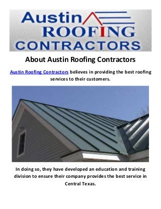 Austin Roofing Contractors : Metal Roofing in Austin
