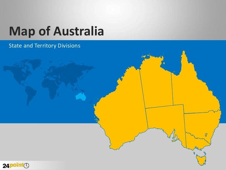 Australia Map Template.Editable Powerpoint Slides Of Australia Map